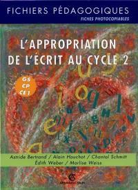 L'appropriation de l'écrit au cycle 2, GS-CP-CE1