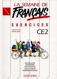 La semaine de français, CE2 : exercices
