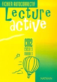 Lecture active CM2, cycle 3, niveau 3 : fichier autocorrectif