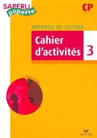 Méthode de lecture CP, cycle 2 : cahier d'activités. Volume 3, Kirikou et Karabar