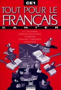 Tout pour le français, CE1 : cahier
