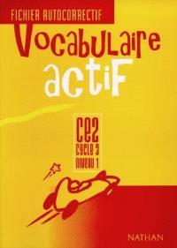 Vocabulaire actif : fichier autocorrectif CE2