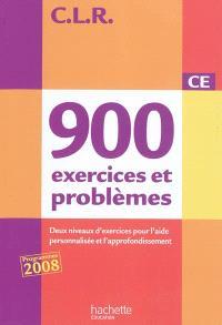 900 exercices et problèmes CE : deux niveaux d'exercices pour l'aide personnalisée et l'approfondissement