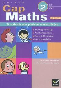 Cap maths CP-CE1, cycle 2 : 24 activités avec plusieurs niveaux de jeu