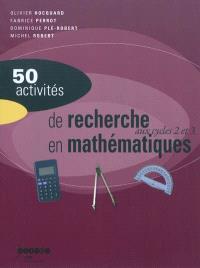 50 activités de recherche en mathématiques aux cycles 2 et 3