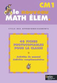 Math élém. CM1, cycle des approfondissements : fiches photocopiables