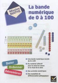 Mission maths, CP, CE1 : la bande numérique de 0 à 100 : dater, ordonner, dénombrer