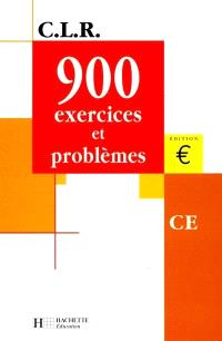 900 exercices et problèmes, CE : livre de l'élève, euro