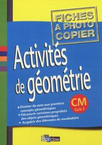 Activités de géométrie CM cycle 3