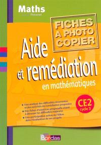 Aide et remédiation CE2 : fichier photocopiable