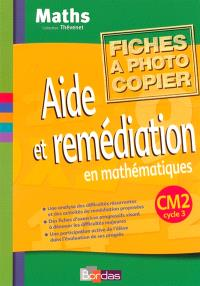 Aide et remédiation CM2 : fichier photocopiable
