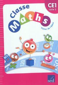 Classe maths, cycle 2 CE1 : fichier de l'élève