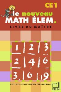 Math élém. CE1 : livre du maître
