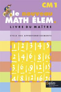 Math élém. CM1, cycle des approfondissements : livre du maître