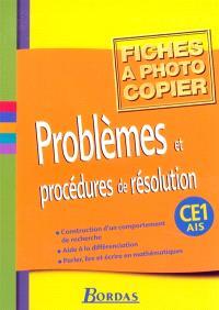 Problèmes et procédures de résolution CE1-AIS