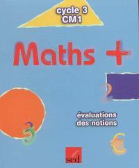 Maths + cycle 3, CM1 : évaluations des notions