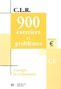 900 exercices et problèmes, CE : corrigés et évaluations, livre du maître