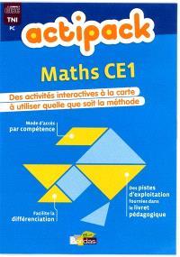 Actipack maths CE1 : des activités interactives à la carte à utiliser quelle que soit la méthode