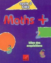 Maths + cycle 3 CM2 : bilan des acquisitions