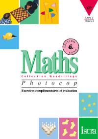 Maths, CP, cycle des apprentissages fondamentaux : photocop, exercices en Euro
