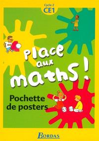 Place aux maths, cycle 2, CE1 : pochette de posters
