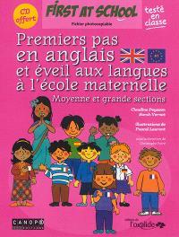 Premiers pas en anglais et éveil aux langues à l'école maternelle : moyenne et grande sections : fichier photocopiable