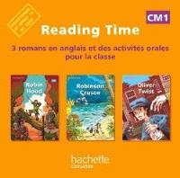 Reading time CM1 : 3 romans en anglais et des activités orales pour la classe