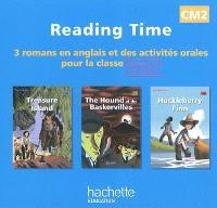 Reaging time CM2, niveau A1 du CECR : CD audio : 3 romans en anglais et des activités orales pour la classe