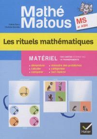 Les rituels mathématiques, MS et ASH : matériel