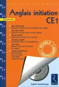 Anglais initiation CE1