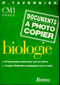 Biologie, documents à photocopier, CM1