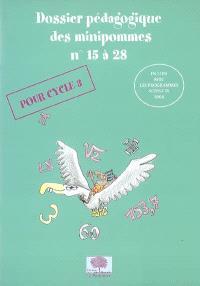 Dossier pédagogique des minipommes : pour cycle 3. Volume 15 à 28