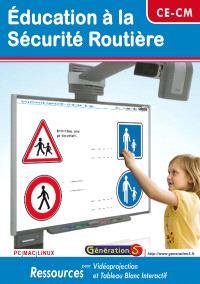 Education à la sécurité routière, CE-CM : CD ressources TBI et vidéoprojection