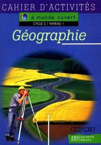 Géographie, cycle 3 niveau 1 : cahier d'activités