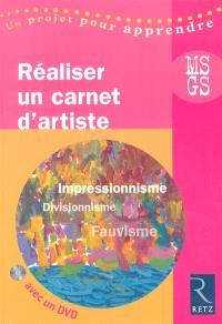 Réaliser un carnet d'artistes MS-GS : impressionnisme, fauvisme, pointillisme