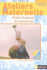 Eveil musical et sensoriel avec les 2-3 ans