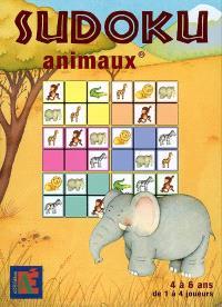 Sudoku animaux : de 4 à 6 ans, de 1 à 4 joueurs
