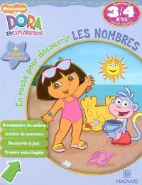 Dora l'exploratrice, En route pour découvrir les nombres, maternelle, petite section, 3-4 ans : reconnaissance des nombres, activités de numérotation, découverte et jeux, premiers mots d'anglais