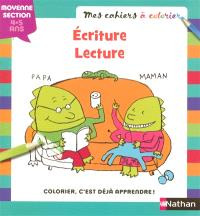 Ecriture, lecture : moyenne section