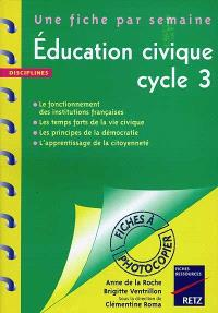 Education civique : cycle 3