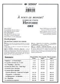 Histoire, CM2 : fichier de l'élève
