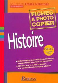 Histoire, cycle 3, CE2-CM1-CM2