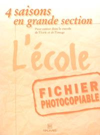 L'école : fichier photocopiable