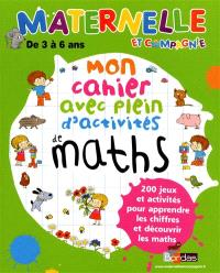 Mon cahier avec plein d'activités de maths
