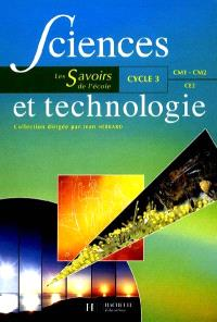 Sciences et technologie, cycle 3