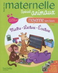 Toute ma maternelle,spécial animaux, moyenne section, 4-5 ans : maths, lecture, écriture