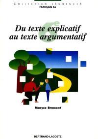 Du texte explicatif au texte argumentatif : 6e
