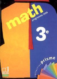 Math 3e : programme 2008
