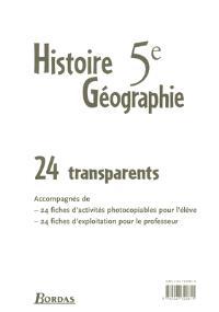 Histoire-géographie 5e : pochette de transparents