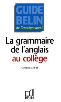 Grammaire de l'anglais au collège